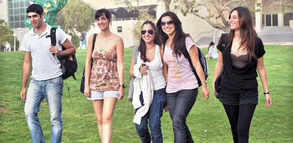 Students  picture: Tamar Matzapi